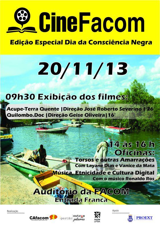 Cartaz filmes Dia da Consciência Negra
